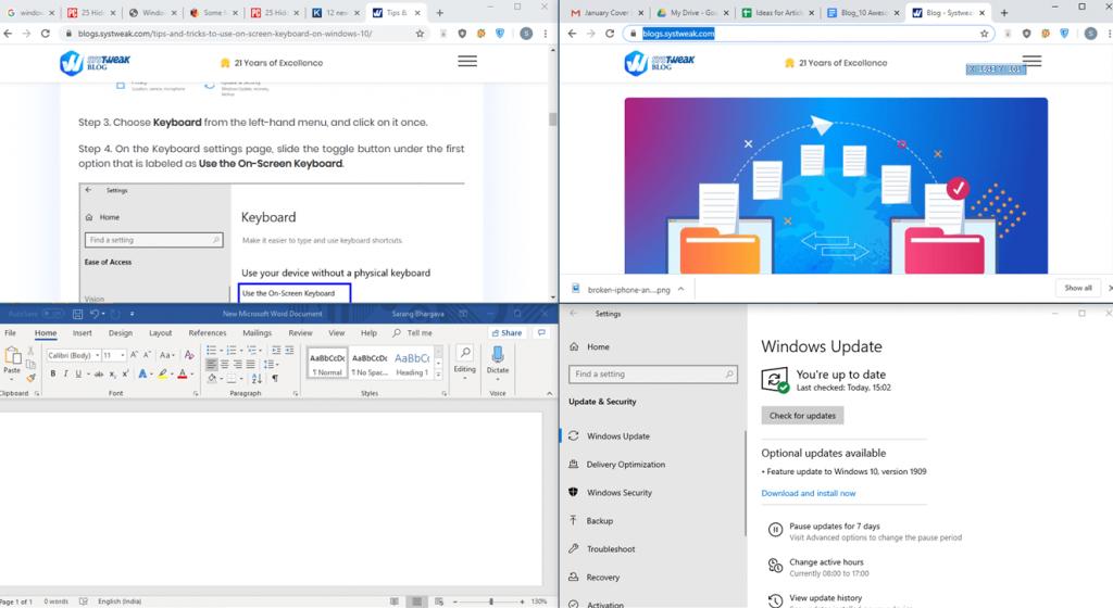 snap windows - windows 10 hacks