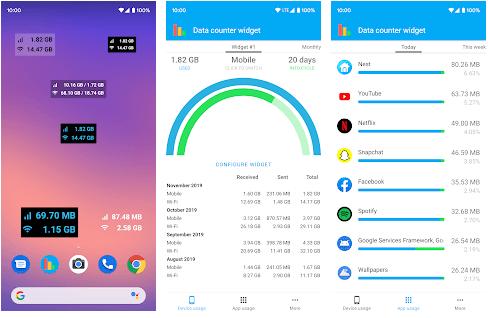 Datenzähler-Widget - Datennutzungs-Manager-Monitor