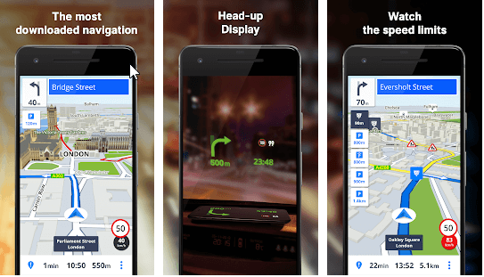 Sygic – GPS- und Tachometer-App