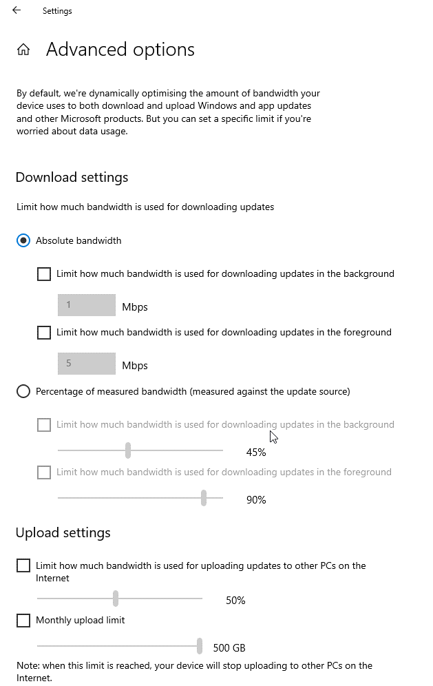 Erhöhen Sie die Bandbreite unter Windows 10