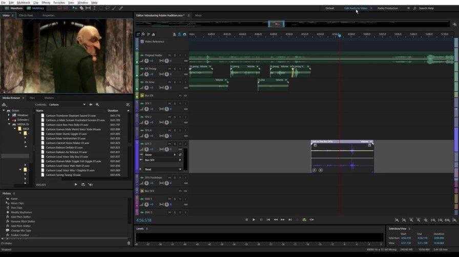 Adobe Audition – Leistungsstarkes Tool zum Bearbeiten, Mischen, Aufnehmen und Wiederherstellen von Audio