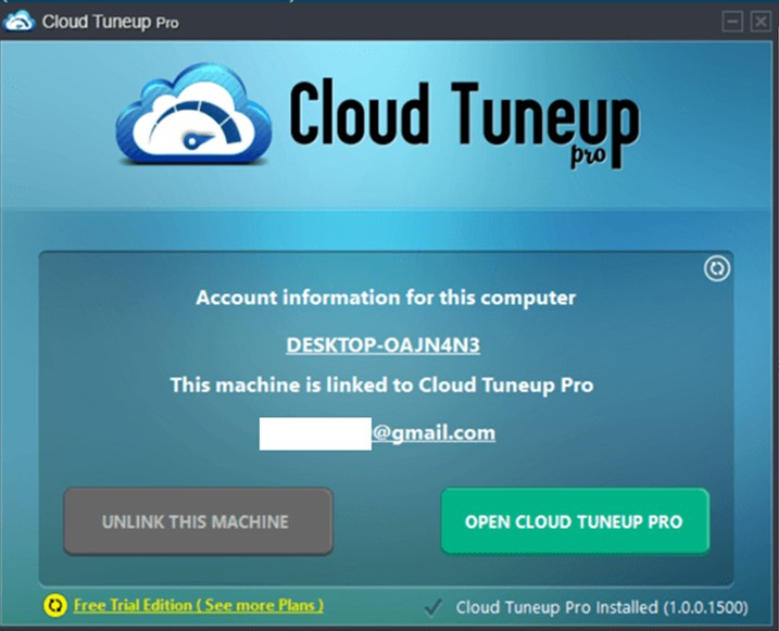 Cloud Tuneup Pro-Konto