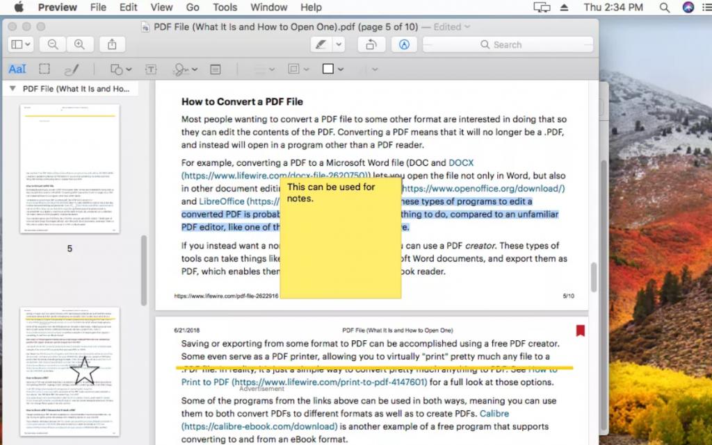 Einfaches Bearbeiten von PDFs auf dem Mac mit Vorschau