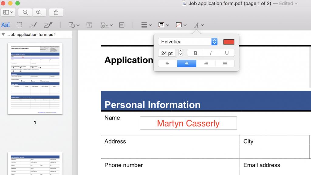 Bearbeiten Sie PDFs auf dem Mac mit QuickLook