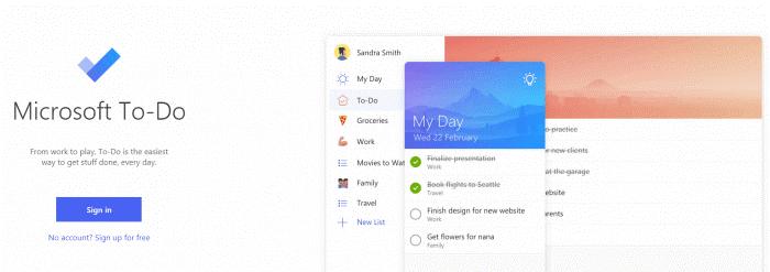 Microsoft-to-do - Aufgabenlisten-Apps
