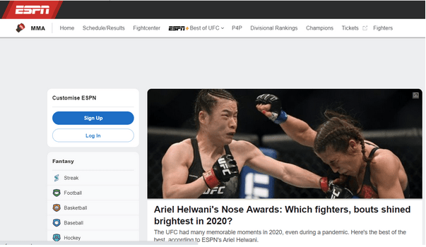 Beste MMA-Streaming-Sites
