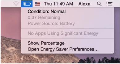 Überprüfen Sie den Batteriezustand auf dem MacBook