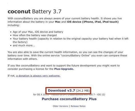 Überprüfen Sie den Batteriezustand über die Kokosnussbatterie