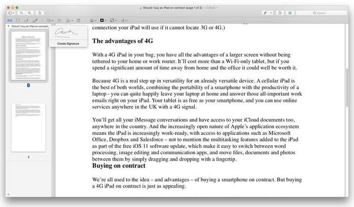 So signieren Sie ein PDF auf dem Mac