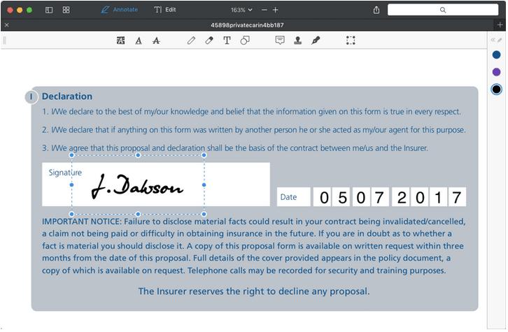 So fügen Sie auf dem Mac eine Signatur zu PDF hinzu