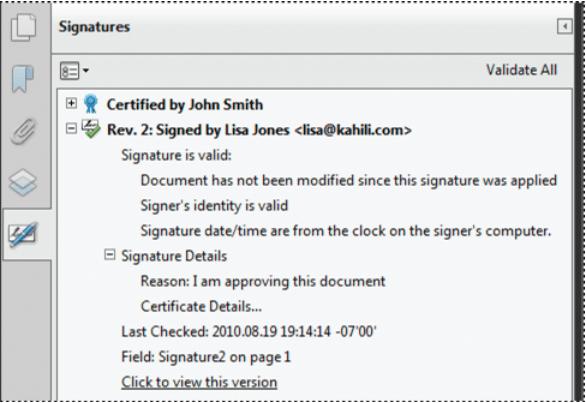 So validieren Sie die digitale Signatur in PDF auf dem Mac
