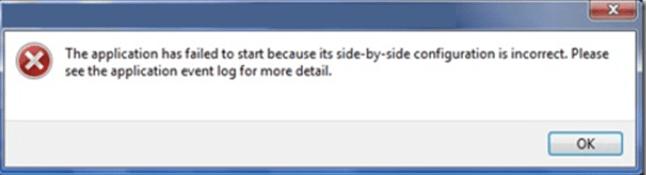 Side-by-Side-Konfiguration ist ein falscher Fehler in Windows 10