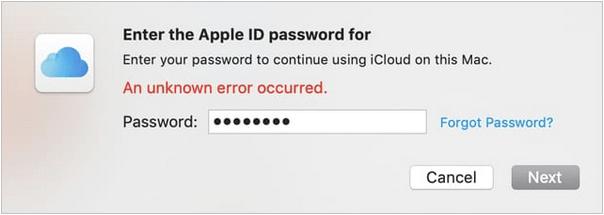 Mac kann keine Verbindung zu iCloud herstellen Problem