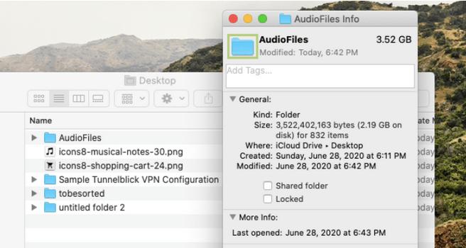 Ordnerfarbe auf dem Mac ändern
