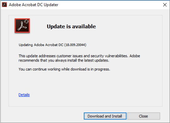 Drucker wird im Adobe Reader nicht angezeigt