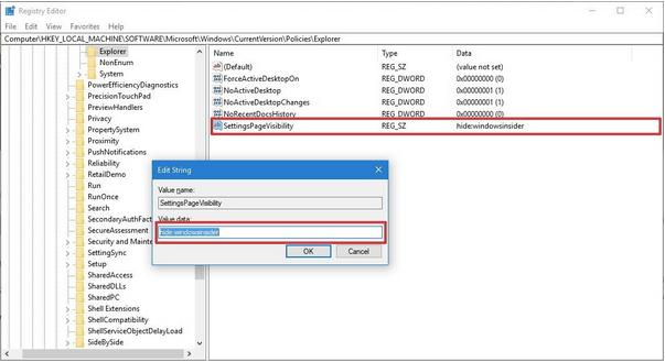 Windows-Registrierung ändern