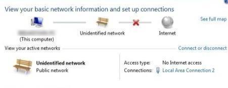 Nicht identifiziertes Netzwerk Kein Internetzugang