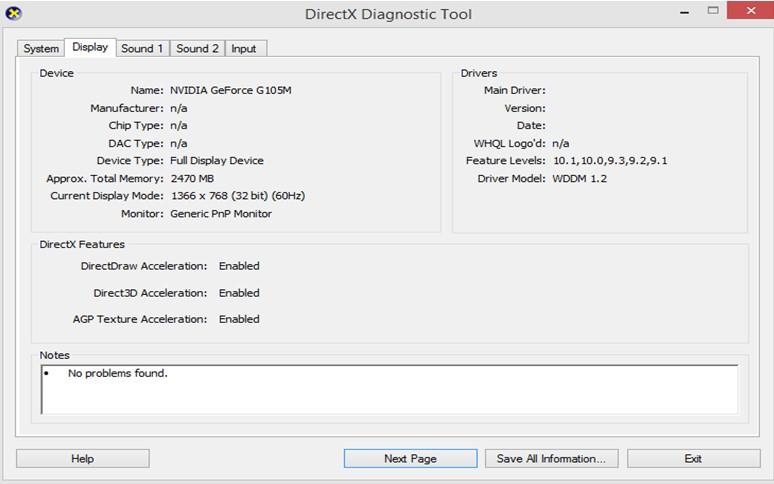 DirectX-Diagnosetool