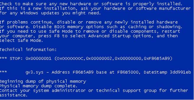 Data_Bus_Error unter Windows 10