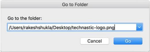 Dateipfad über Finder suchen und kopieren