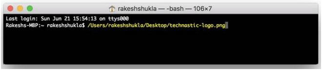 Dateipfade mit Terminal auf dem Mac anzeigen
