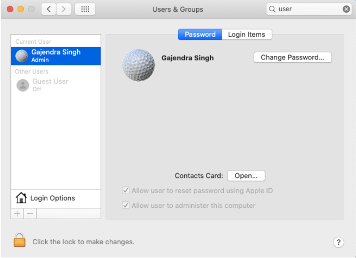 Login-Apps entfernen