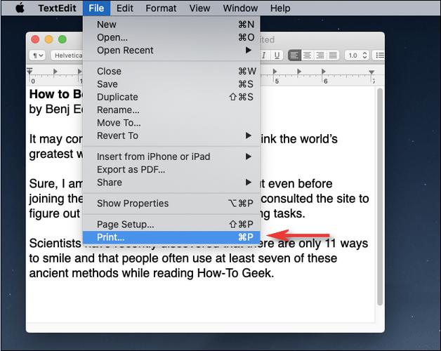 Auf macOS als PDF drucken