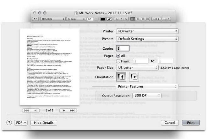 PDFwriter für Mac
