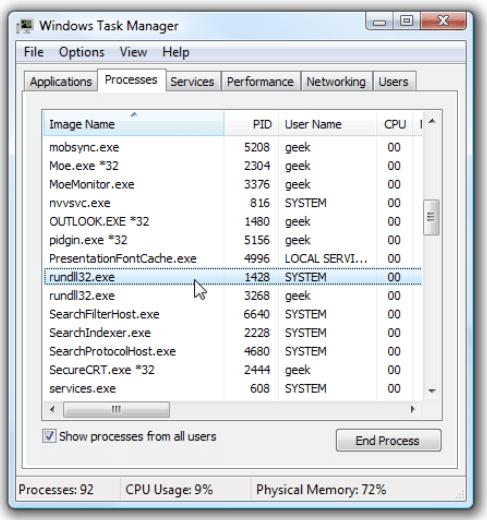 Was ist ein Rundll32.exe-Prozess?
