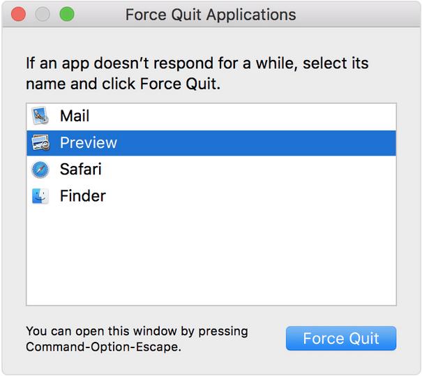 Control Alt Delete auf einem Mac