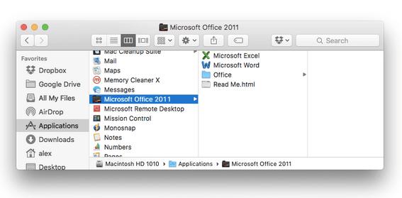 Microsoft Office-Suite 2011