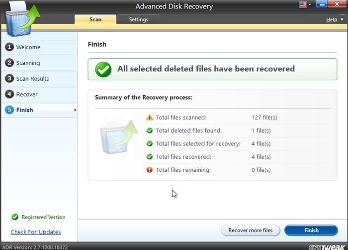 Dateien gescannt
