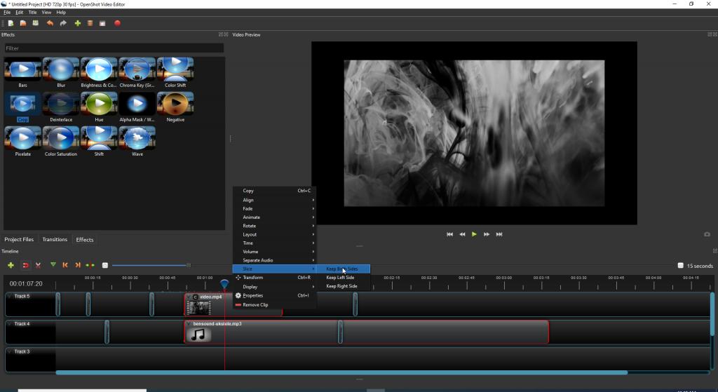 Split-Video-Fenster