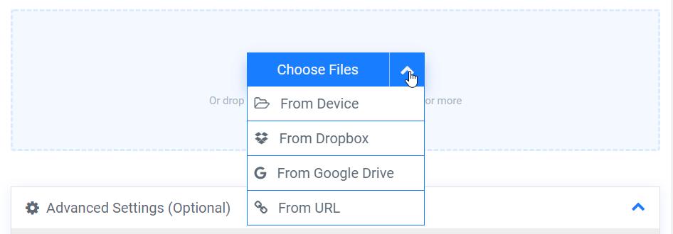 Wähle Dateien