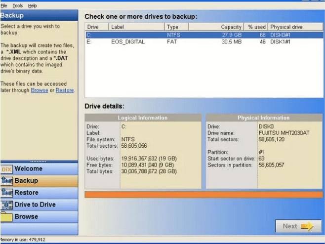 DriveImage XML-Sicherungstool