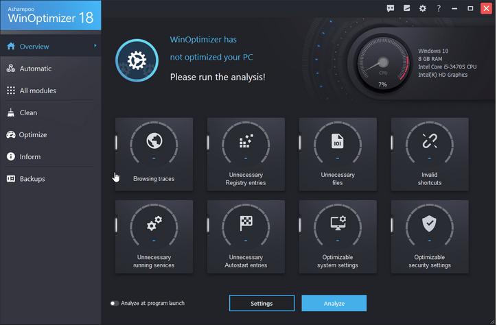 So optimieren Sie Ihren PC mit WinOptimizer