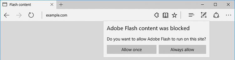 разблокировать Adobe Flash Player