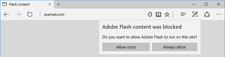 Adobe Flash Player entsperren