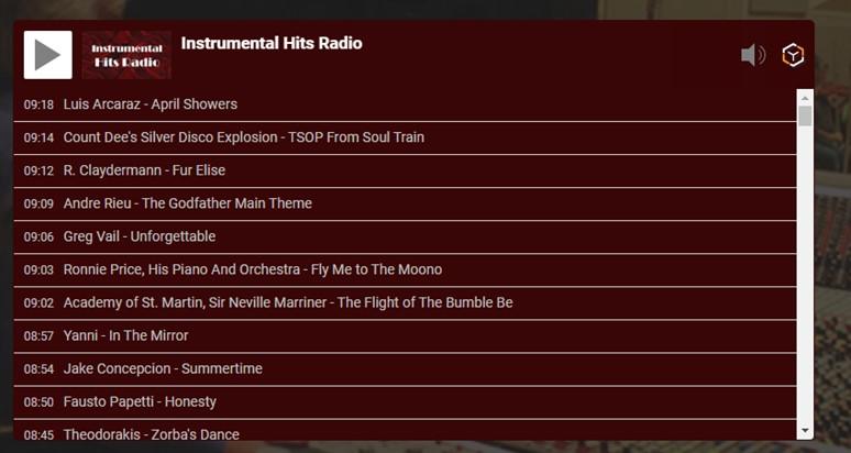 Инструментальные хиты Радио