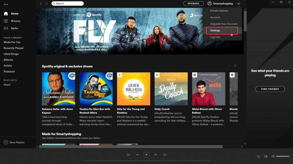 Stoppen Sie das Öffnen von Spotify beim Start von Windows
