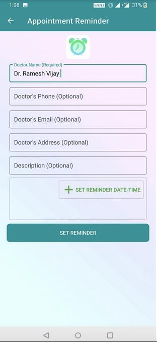Приложение-напоминание о лекарствах для записи на прием