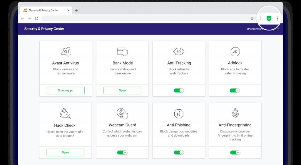 Module von Avast Secure Browser