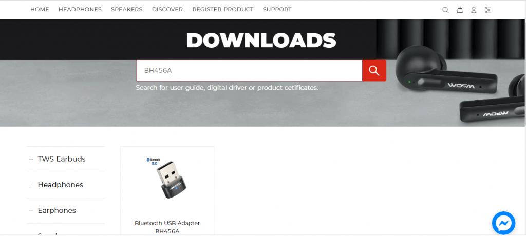 Официальный сайт поддержки mpow, загрузка драйвера mpow