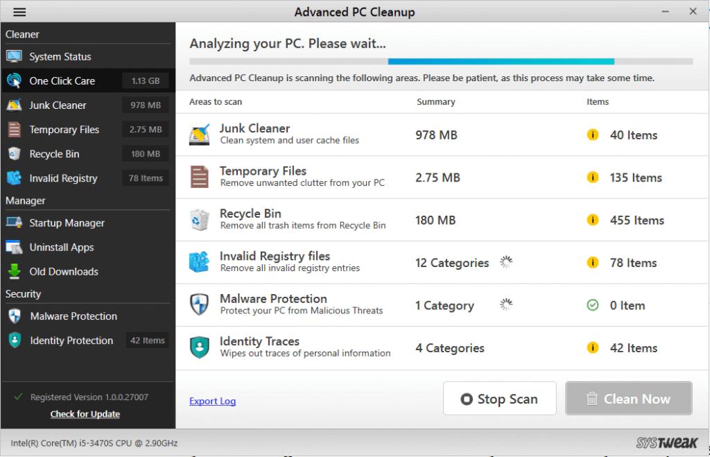 Erweiterte PC-Bereinigung