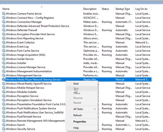 Проигрыватель Windows Media не работает