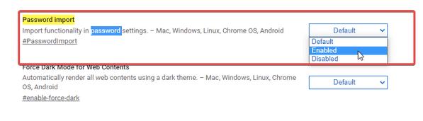 Импорт и резервное копирование сохраненных паролей с помощью флагов Chrome