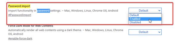 Можете ли вы импортировать сохраненные пароли из Chrome