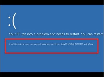 Ошибка нарушения, обнаруженная программой проверки драйверов