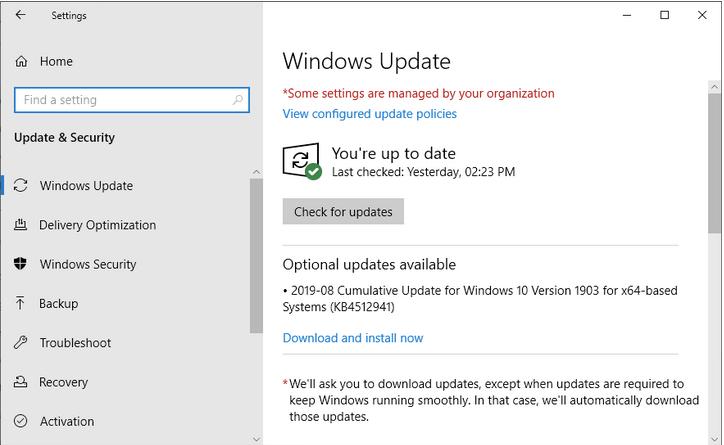 Обновите Windows