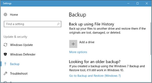 Sicherungsdateien in Windows 10 löschen